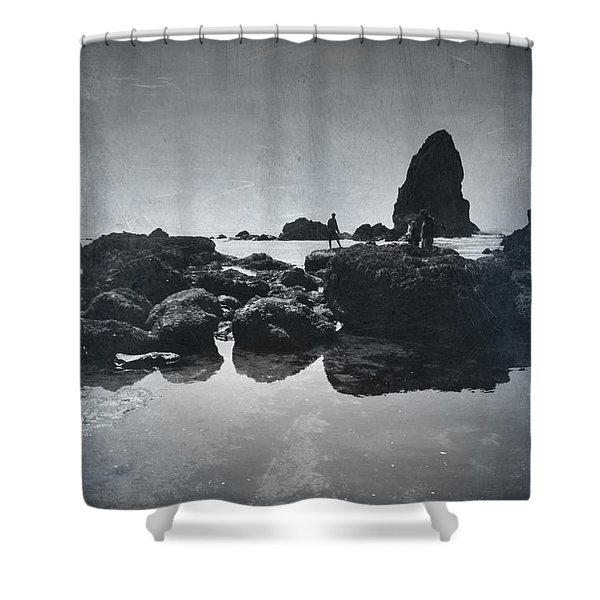 It Seems So Shallow And Low Shower Curtain by Laurie Search