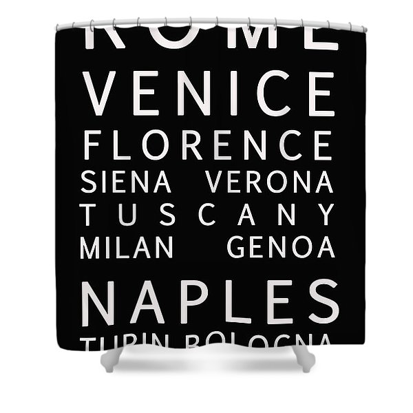 Italy Cities - Bus Roll Style Shower Curtain by Nomad Art And  Design