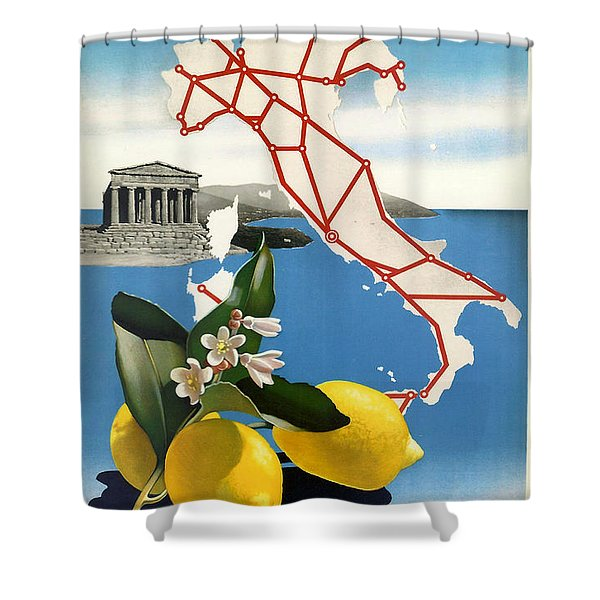 Italy Shower Curtain by Nomad Art And  Design