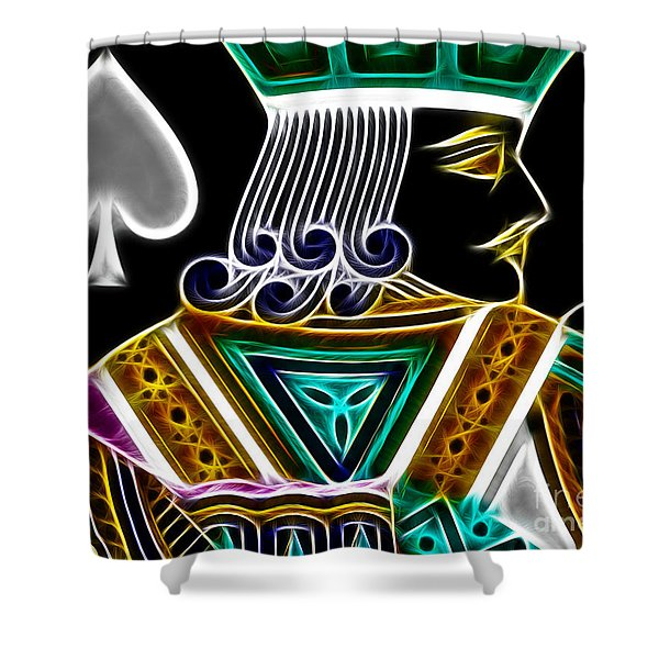 Jack Of Spades - V4 Shower Curtain by Wingsdomain Art and Photography