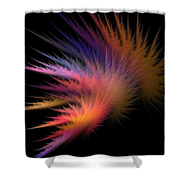 Jagged Edge Shower Curtain by Lourry Legarde