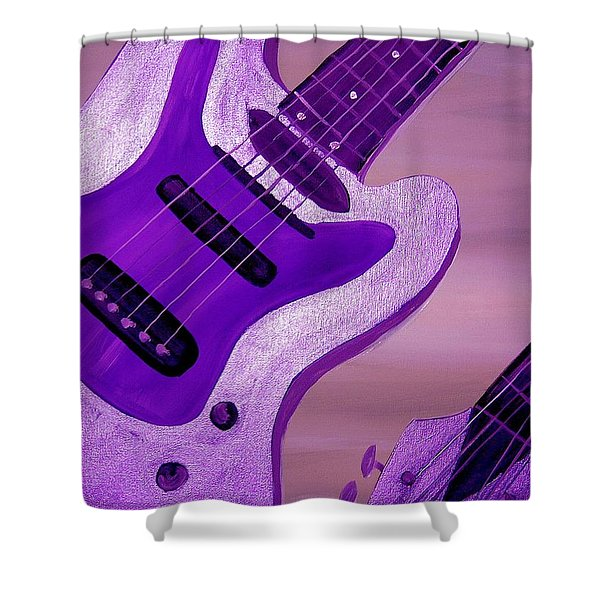 Jazz Five Shower Curtain by Mark Moore