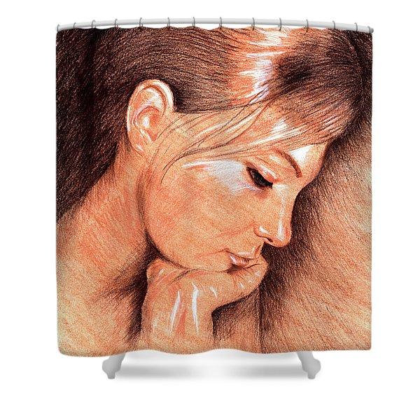 Jenny Shower Curtain by Hakon Soreide