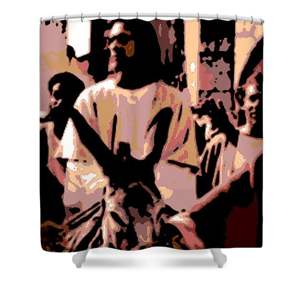 Jesus Rides Into Jerusalem Shower Curtain by George Pedro