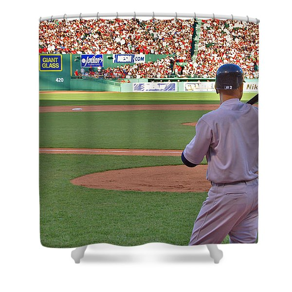 Jeter Shower Curtain by Joann Vitali