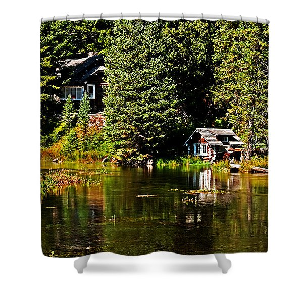 Johnny Sack Cabin II Shower Curtain by Robert Bales