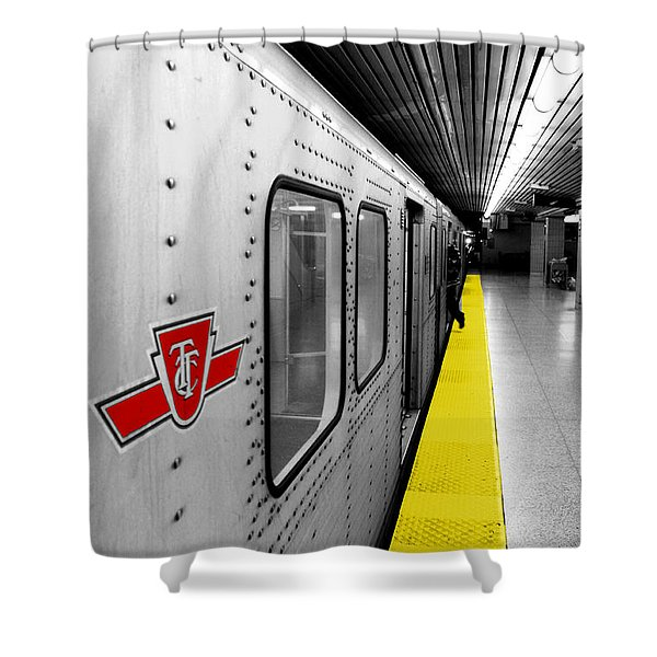 Just in Time Shower Curtain by Valentino Visentini