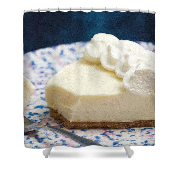 Just One Bite Of Key Lime Pie Shower Curtain by Andee Design