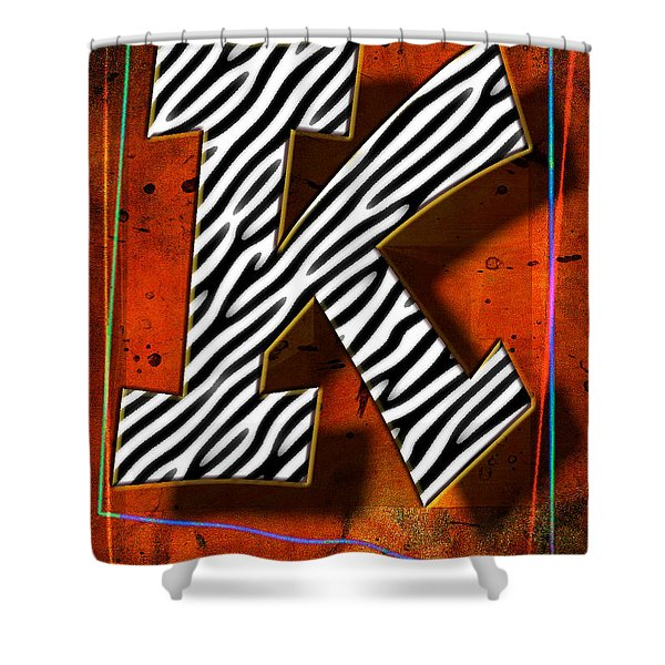 K Shower Curtain by Mauro Celotti