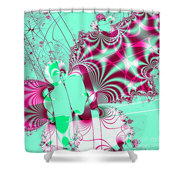Kabuki . Square Shower Curtain by Wingsdomain Art and Photography