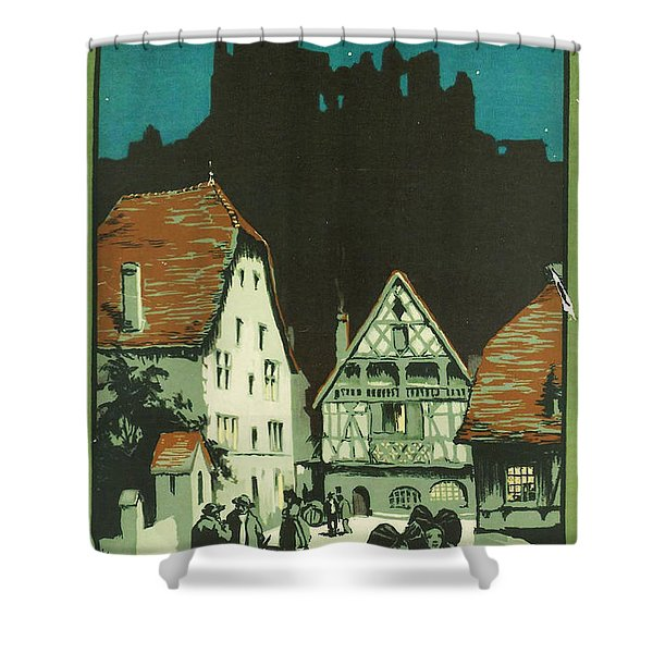 Kaysersberg Alsace Shower Curtain by Nomad Art And  Design