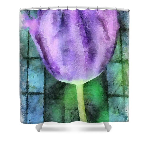 Keep It Simple Shower Curtain by Trish Tritz