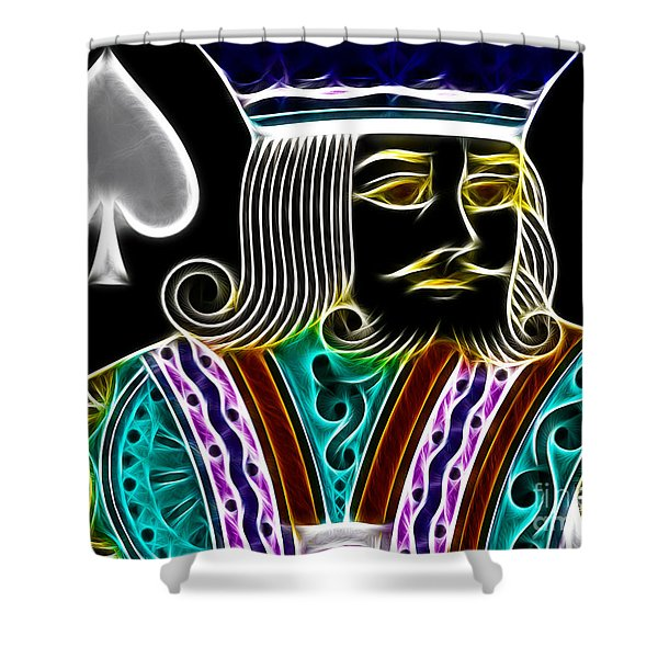 King of Spades - v4 Shower Curtain by Wingsdomain Art and Photography