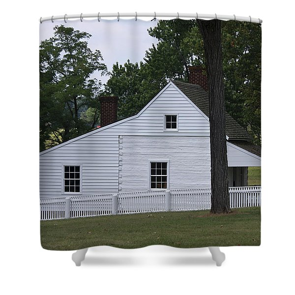 Kitchen and Slave Quarters Appomattox Virginia Shower Curtain by Teresa Mucha
