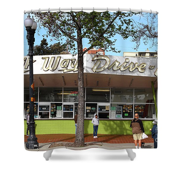 Kwik Way Drive-in Fast Food Restaurant . Oakland California . 7d13521 Shower Curtain by Wingsdomain Art and Photography