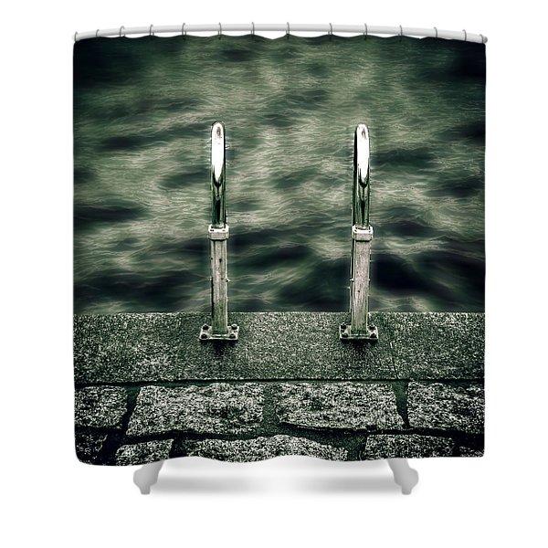 ladder Shower Curtain by Joana Kruse