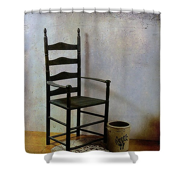Ladderback Shower Curtain by Judi Bagwell
