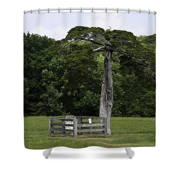 Lafayette Meeks Cemetery Appomattox Virginia Shower Curtain by Teresa Mucha