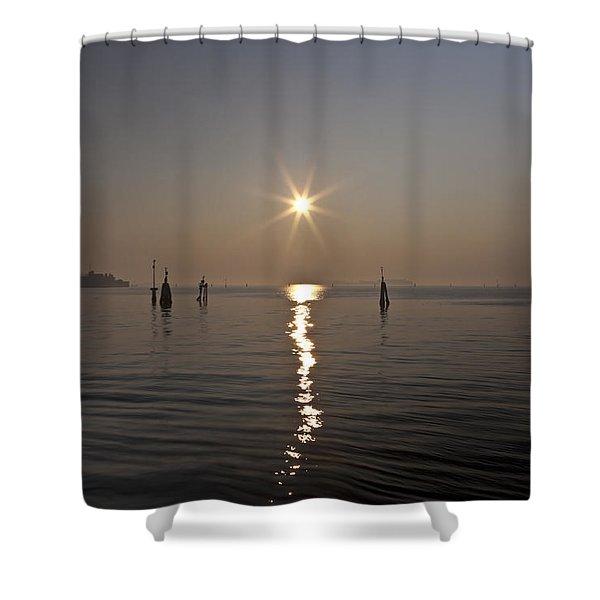 lagoon of Venice Shower Curtain by Joana Kruse