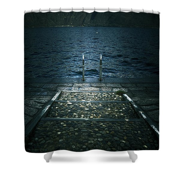 lake in the winter Shower Curtain by Joana Kruse