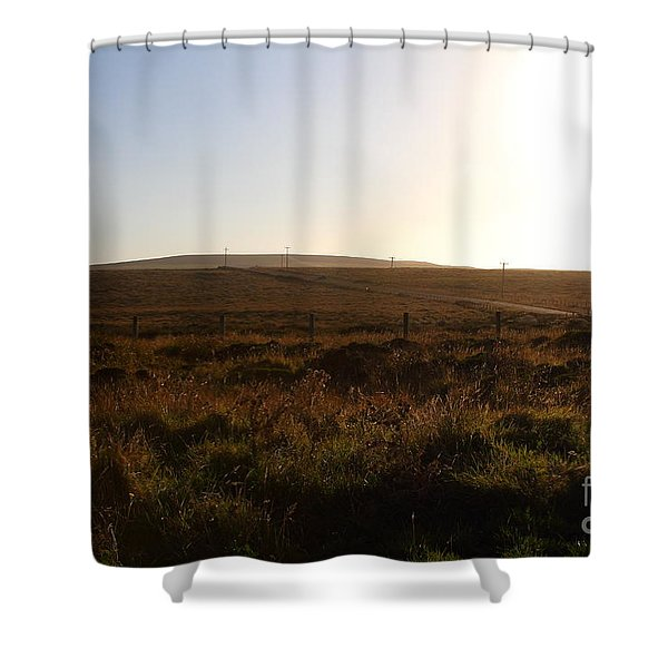 Landscape At Point Reyes California . 7D9958 Shower Curtain by Wingsdomain Art and Photography
