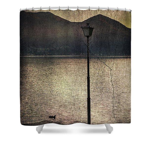 lantern at the lake Shower Curtain by Joana Kruse