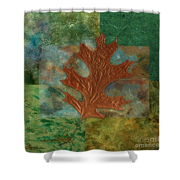 Leaf Life 01 - Green 01b2 Shower Curtain by Variance Collections
