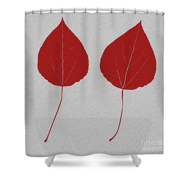 Leafs Rouge Shower Curtain by Bruce Stanfield