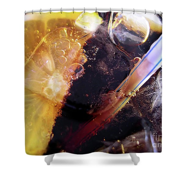 Lemon and Straw Shower Curtain by Carlos Caetano