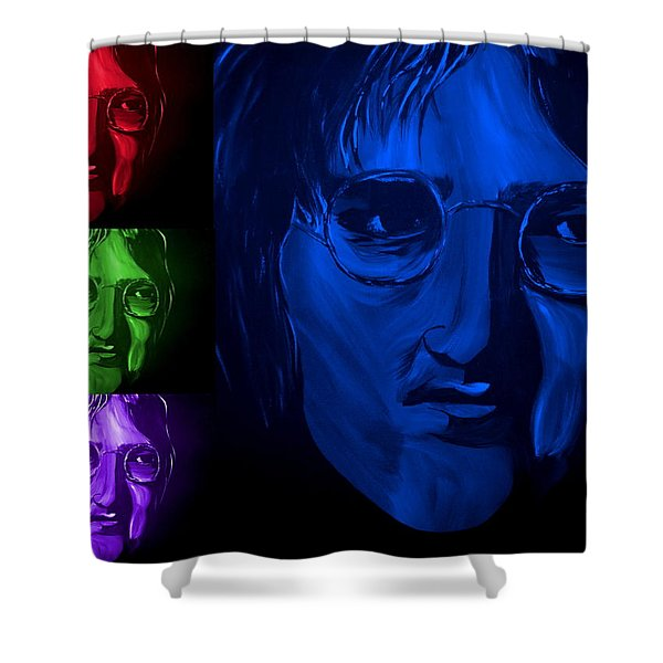 Lennon The Legend Shower Curtain by Mark Moore
