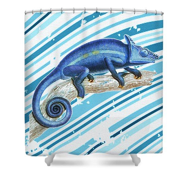 Leo Loves Lizards Shower Curtain by Nikki Marie Smith