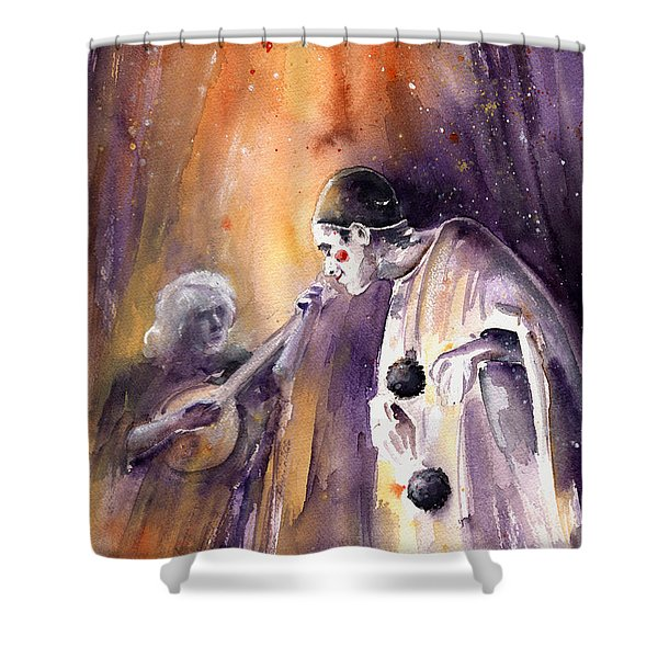 Leo Sayer In The Show Must Go On Shower Curtain by Miki De Goodaboom