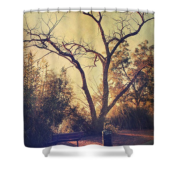 Let Us Sit Side By Side Shower Curtain by Laurie Search