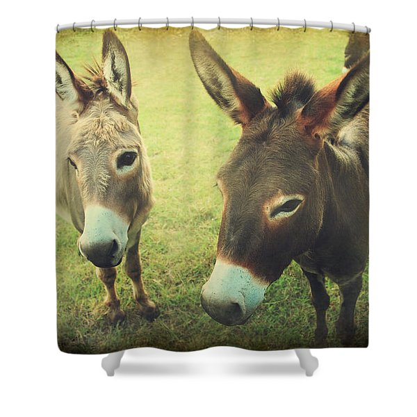 Let's Chat Shower Curtain by Laurie Search