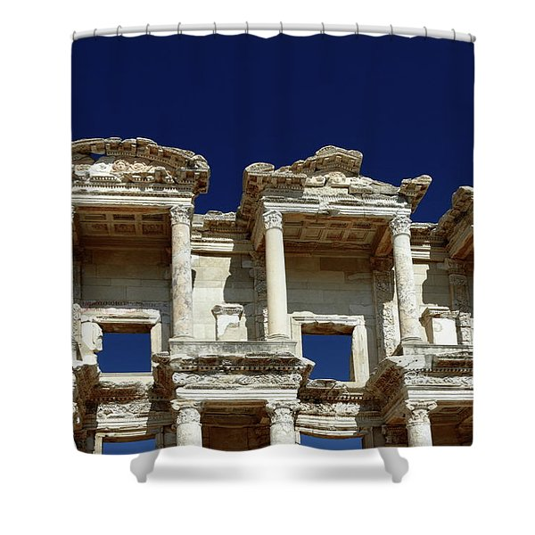 Library of Celsus in Ephesus Shower Curtain by Sally Weigand