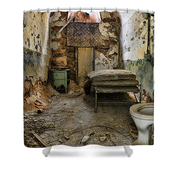Life In Prison Shower Curtain by Paul Ward