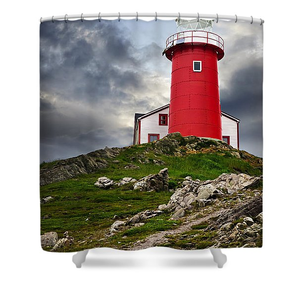 Lighthouse On Hill Shower Curtain by Elena Elisseeva