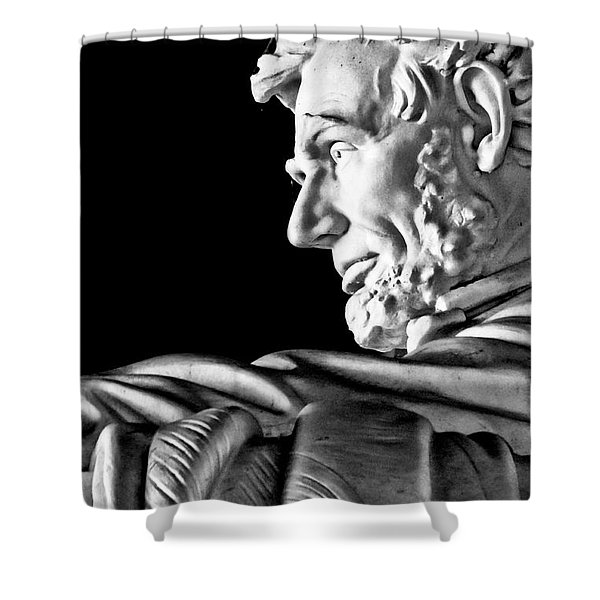 Lincoln Profile Shower Curtain by Christopher Holmes