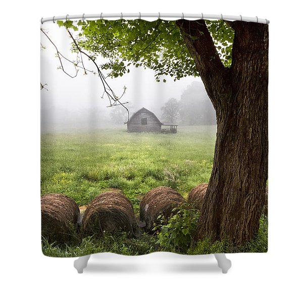 Little Barn Shower Curtain by Debra and Dave Vanderlaan