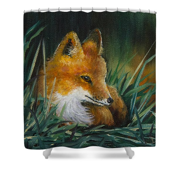 Little Kit Shower Curtain by Dee Carpenter