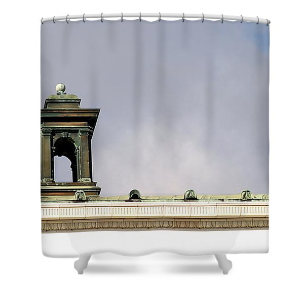 Little Tower Shower Curtain by Henrik Lehnerer