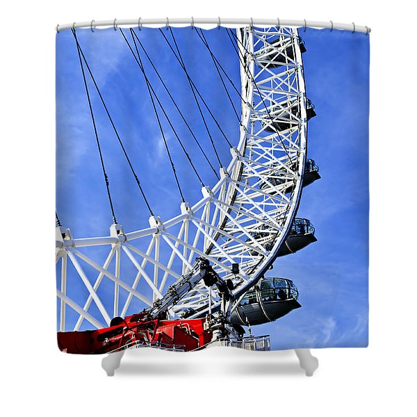 London Eye Shower Curtain by Elena Elisseeva