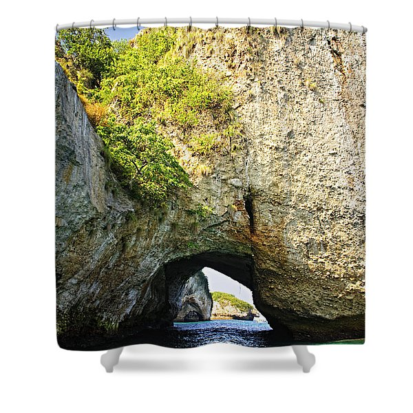 Los Arcos Park in Mexico Shower Curtain by Elena Elisseeva