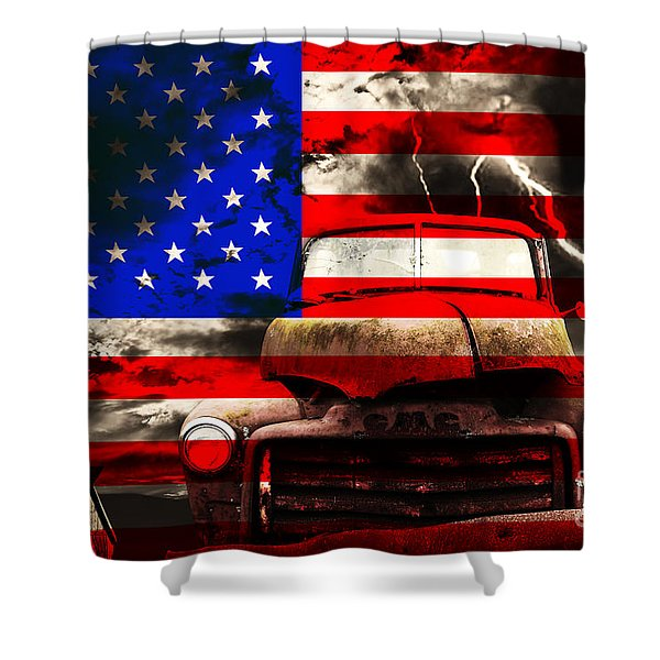 Lost In America Shower Curtain by Wingsdomain Art and Photography