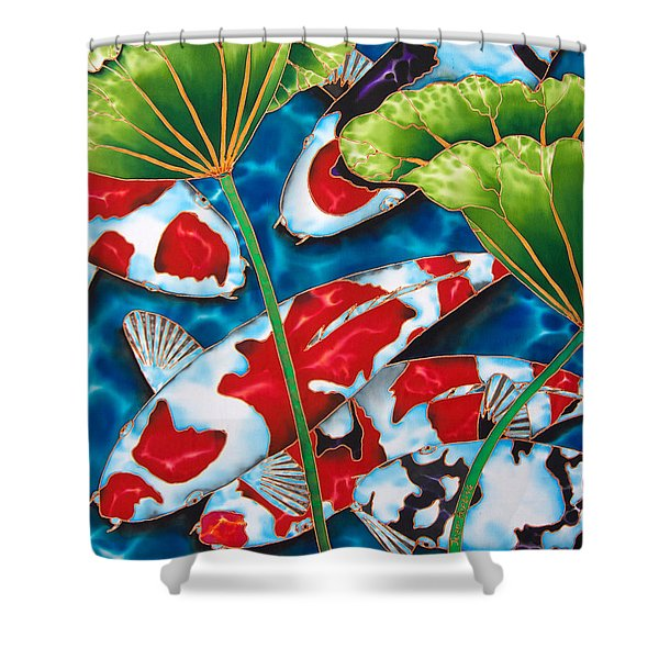 Lotus Garden Shower Curtain by Daniel Jean-Baptiste