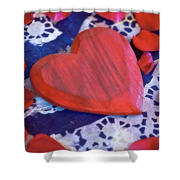 Love Shower Curtain by Joana Kruse