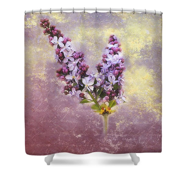 Love Letter Iv Shower Curtain by Jai Johnson