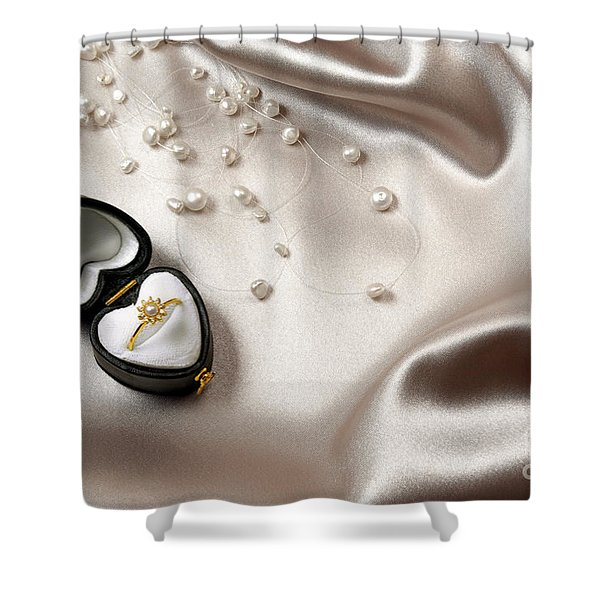 Love Ring Shower Curtain by Carlos Caetano