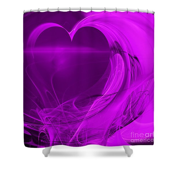 Love . Square . A120423.279 Shower Curtain by Wingsdomain Art and Photography