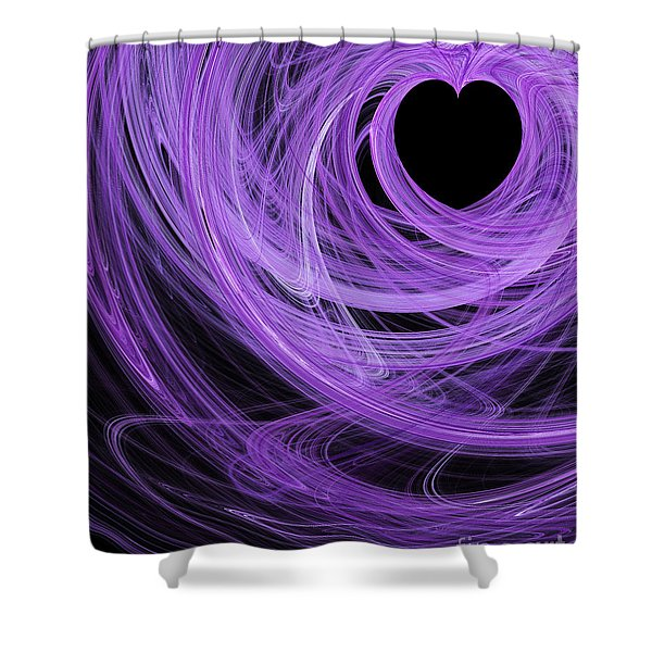 Love Swirls . A120423.689 Shower Curtain by Wingsdomain Art and Photography
